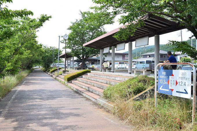 駅舎跡を活用した「筑波休憩所」