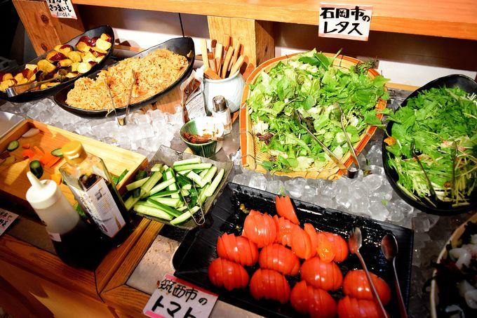 食べ放題の新鮮野菜ビュッフェは早い者勝ち!