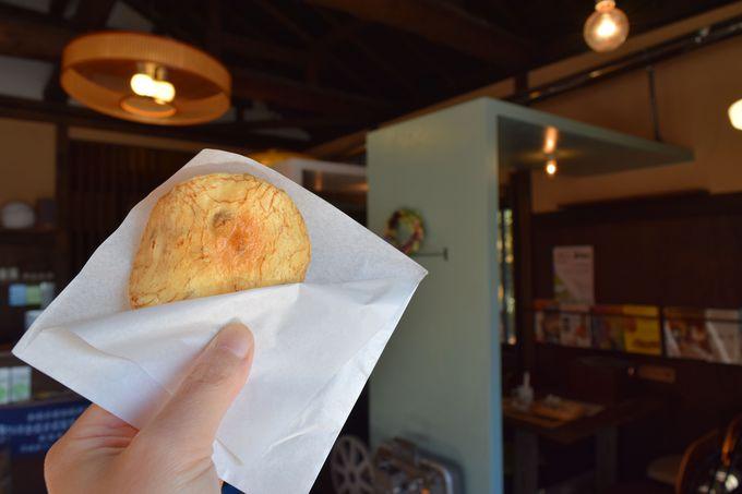 筑波山お煎餅カフェ「日升庵」の手焼きせんべい