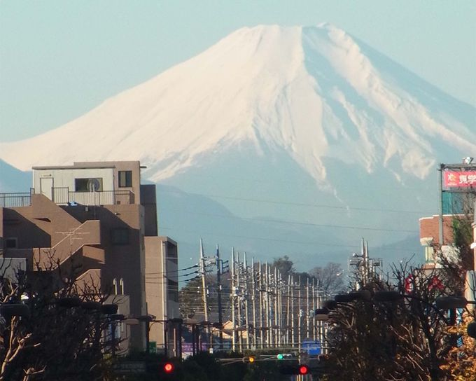 雄大な富士山を拝んで、旅をスタート!