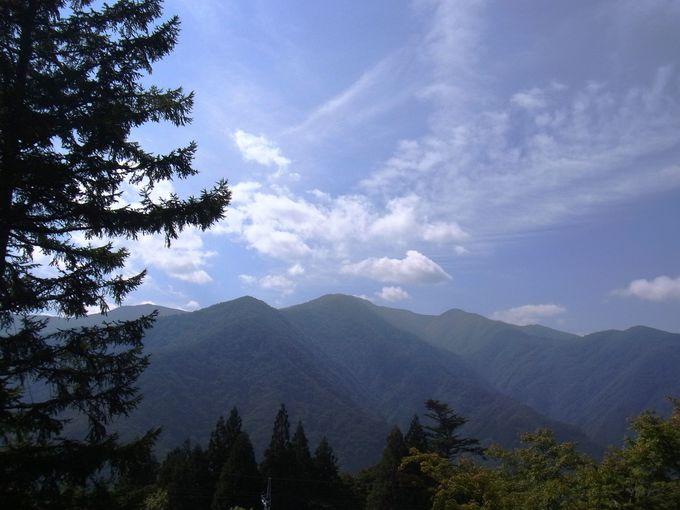 参拝前から絶景の山々