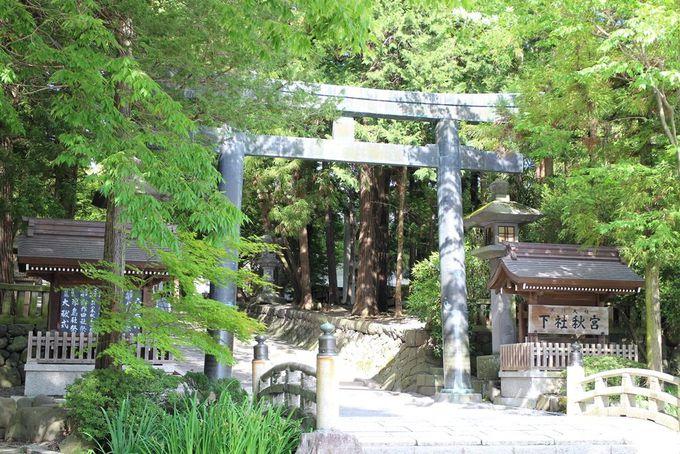 諏訪大社下社(秋宮)周辺に宿場町のおもかげを感じる