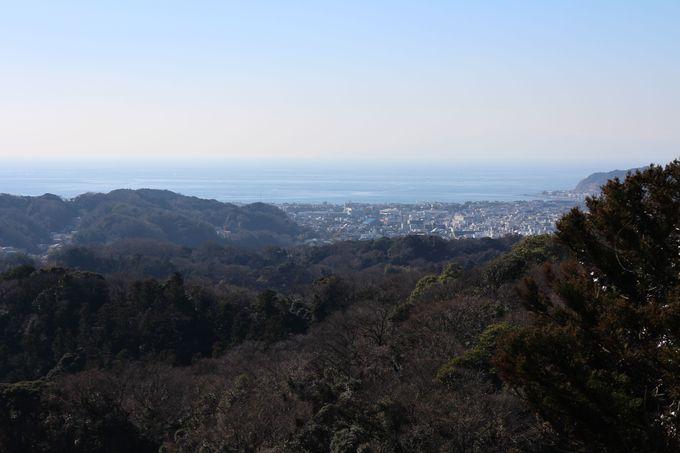 大平山から太平洋と鎌倉市街をのぞむ