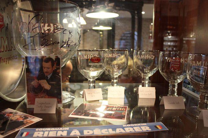 トラピストビール「シメイ」のサイン入り記念グラスが見られる!