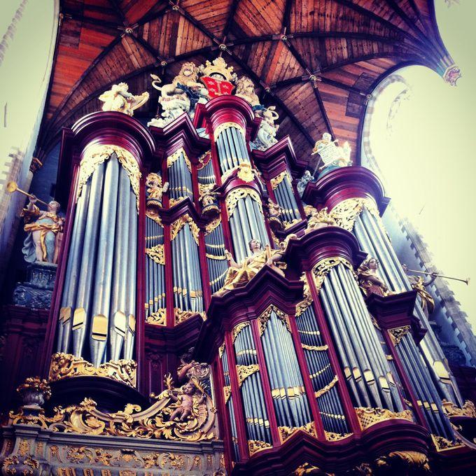 聖バフォ教会では由緒あるオルガン、そして週末に立つマルシェへ