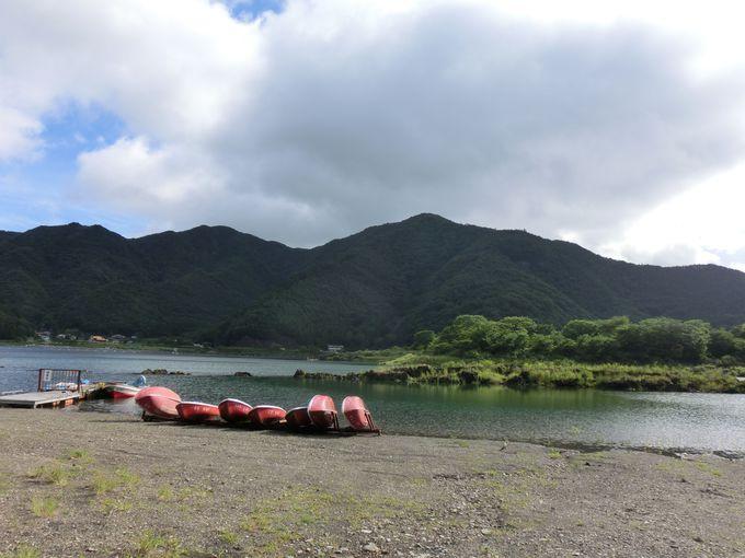 精進湖でアクティビティ