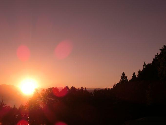 部屋から見える朝の景色が醍醐味