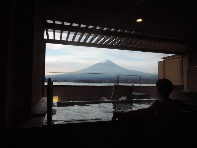 温泉を存分に楽しめ、日頃の疲れを癒せる「富士河口湖温泉 秀峰閣 湖月」
