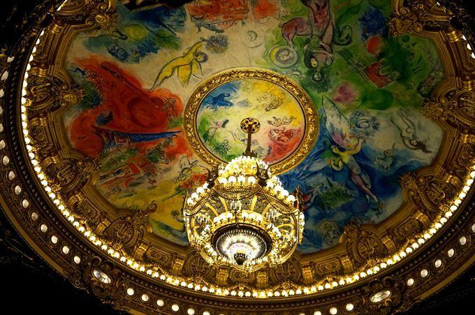 天井に輝くシャガールの名画