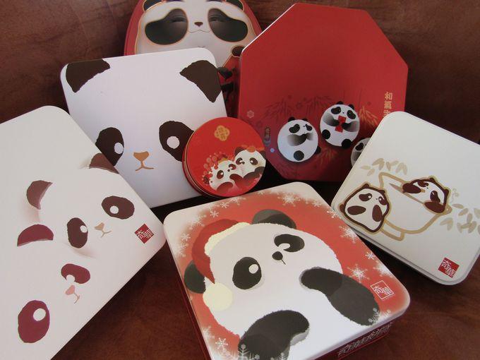 パンダのスチール缶が人気!「ケイワー・ベーカリー(奇華餅家)」のクッキーセット