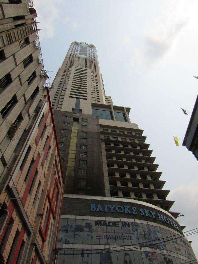 バンコク市内のどこからでも見えるタワービルはホテルだった!
