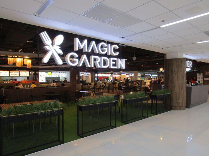 まずは、4階フードコート「マジックガーデン」へGO!