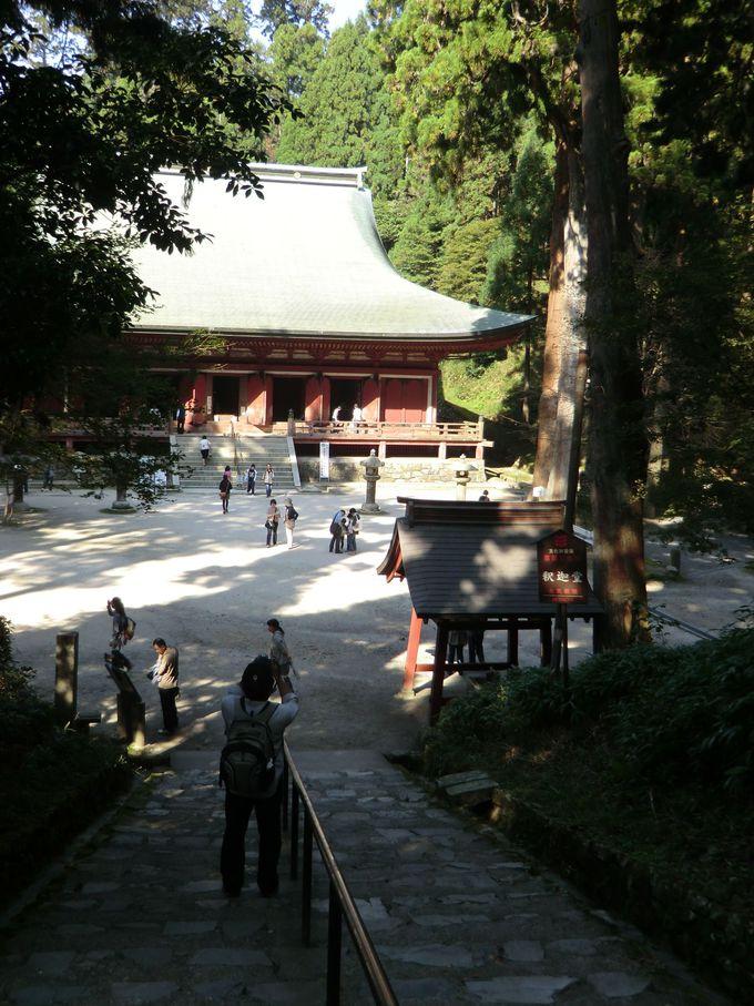 西塔の本堂(釈迦堂)は延暦寺の中で最も古い建物
