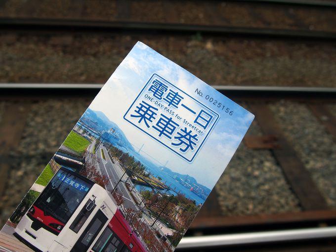 路面電車の一日乗車券を買おう!