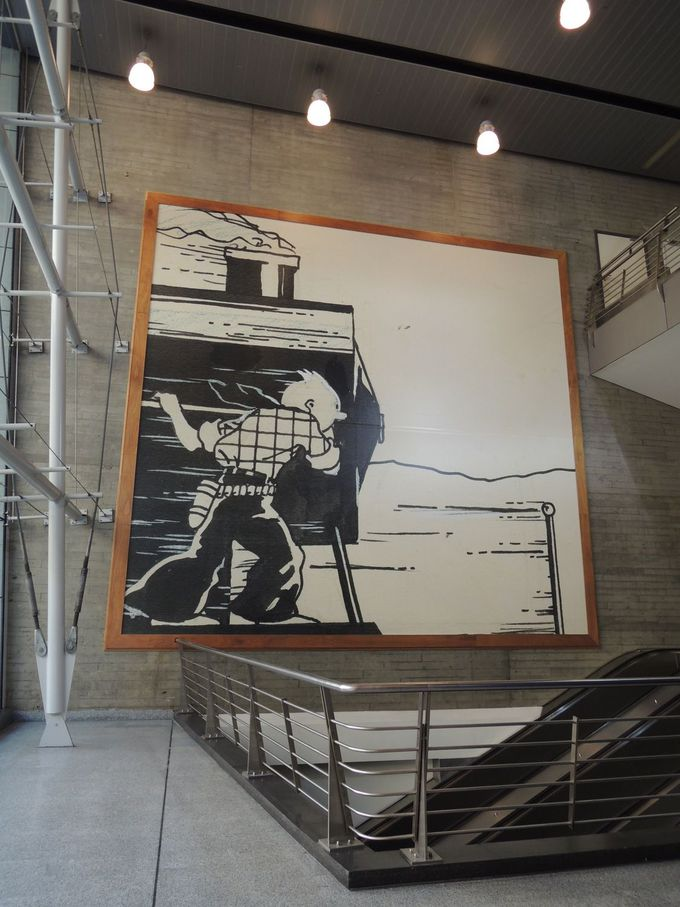 ブリュッセル南駅で「タンタン」の出迎えを受ける!