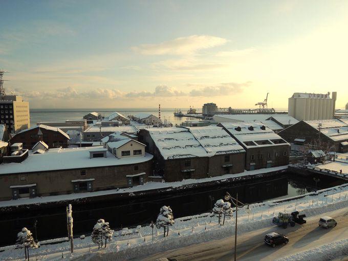 部屋から眺める景色で観光名所の小樽運河を味わう!