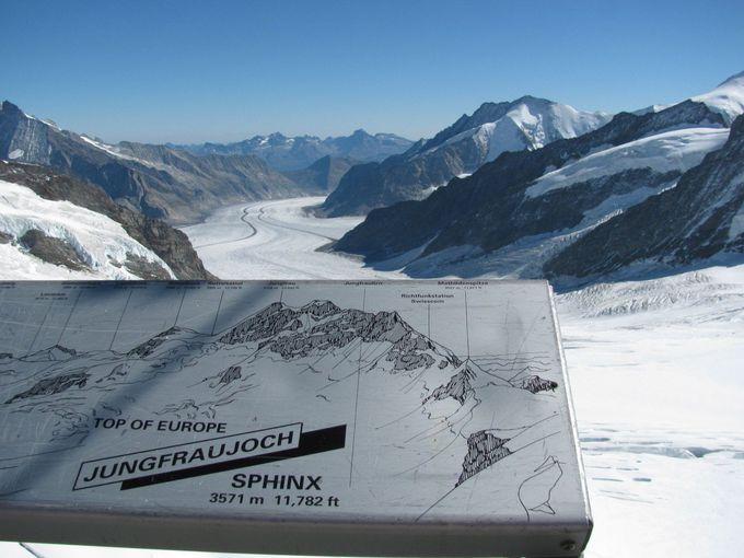これが世界遺産!アレッチ氷河の迫力が目の前に!