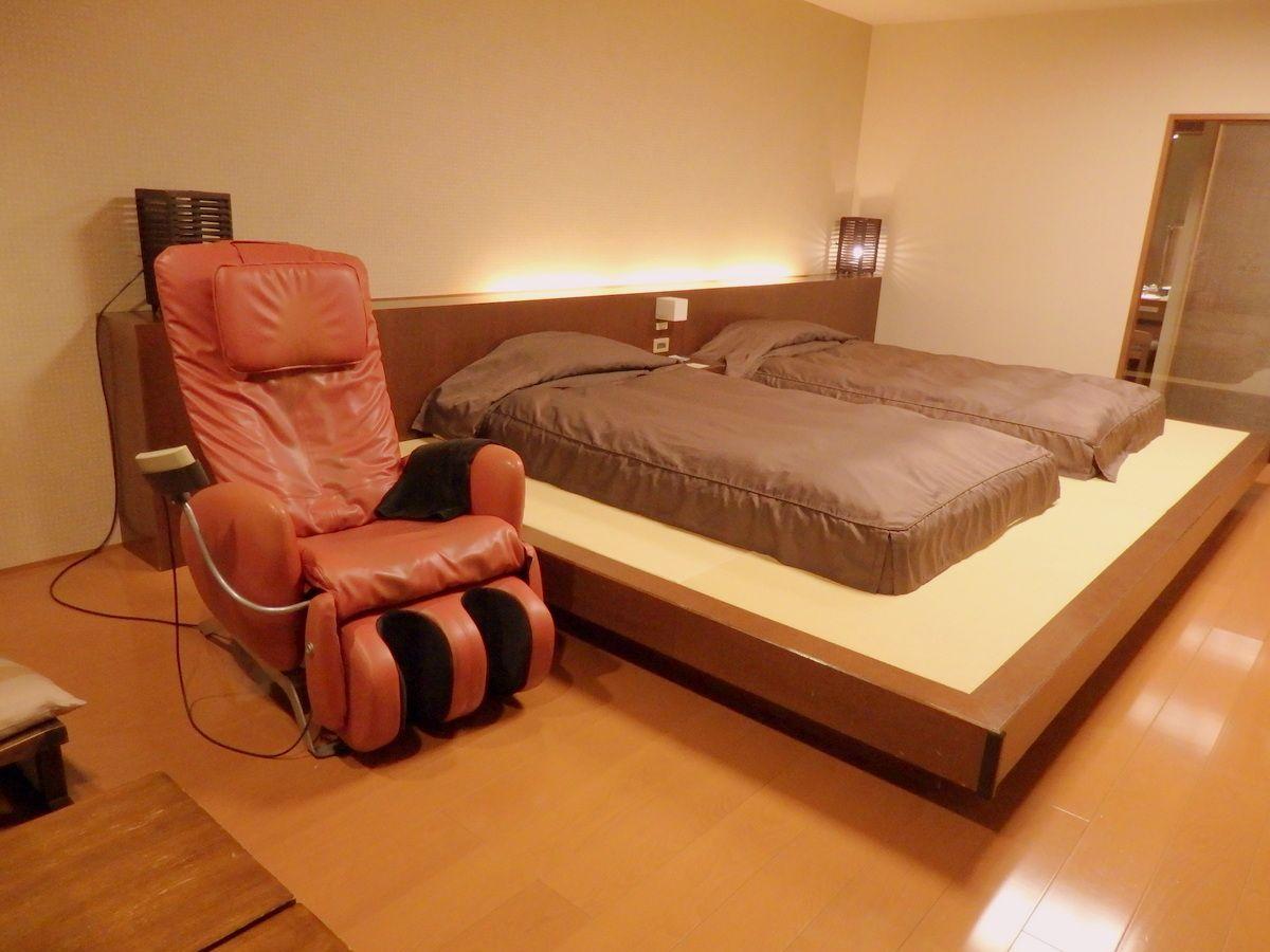 ゆったりした客室と充実設備