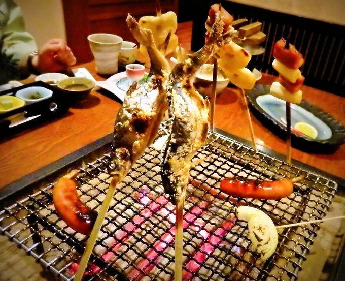 支笏湖名物「ヒメマス」料理も!1日5組限定の囲炉裏会席が楽しい