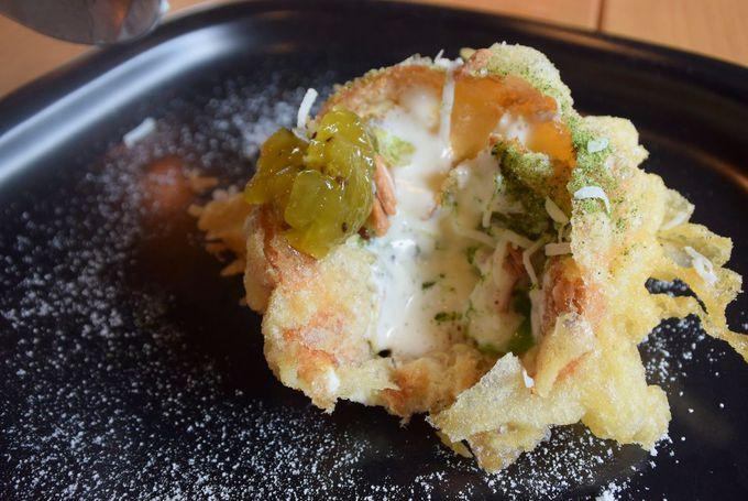 天ぷらアイスをはじめとしたデザート、自家製ドリンクも要チェック