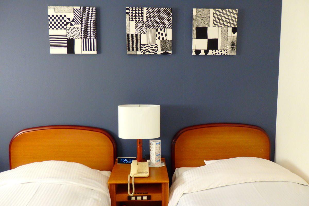 ホテルと旅館のいいとこどり?寛げるお部屋と大浴場。