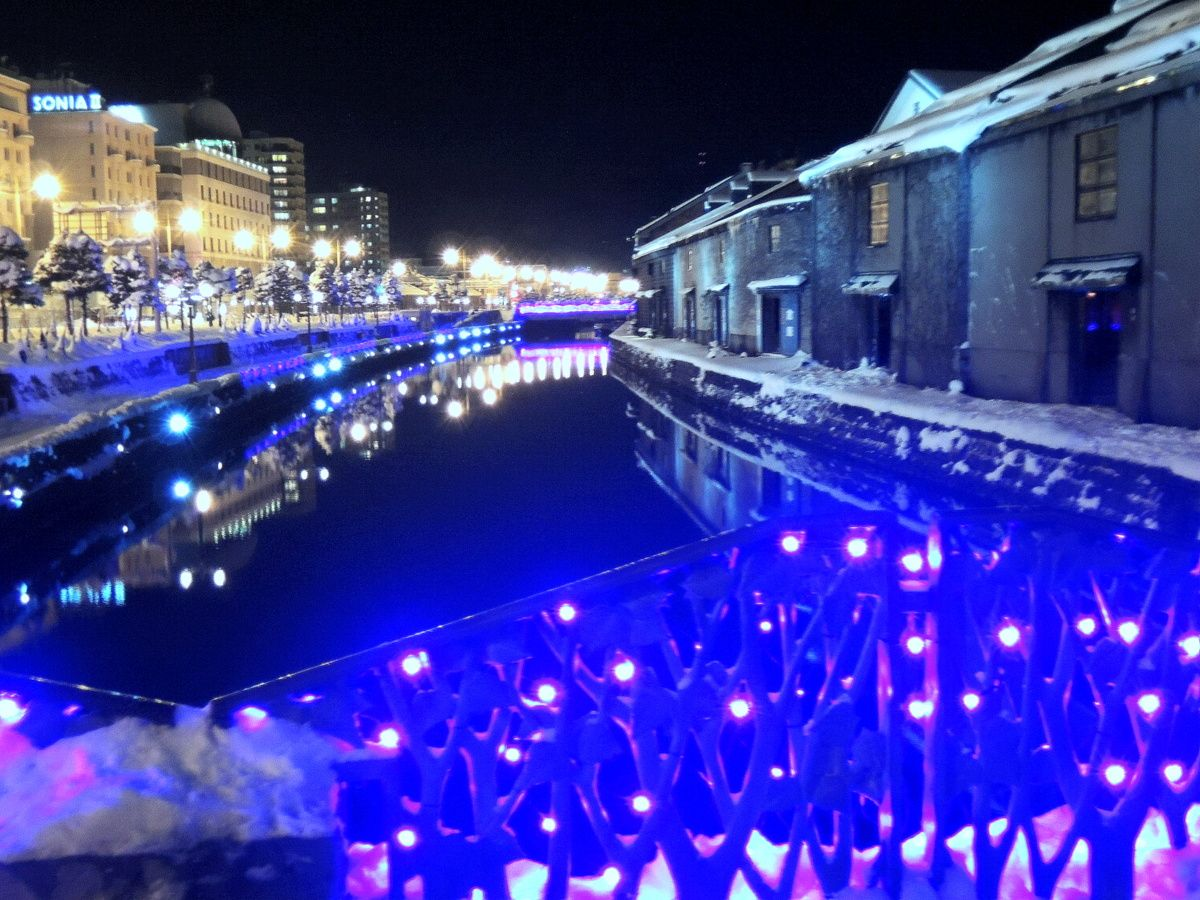 小樽観光のテッパン・小樽運河が「青の運河」に。