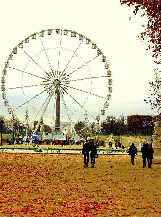 11月中旬〜2月まで。コンコルド広場に登場する観覧車に乗る