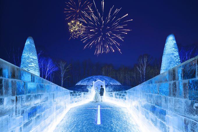 冬の最も寒い季節だけ登場する「氷の教会」