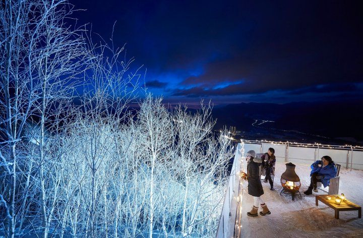 幻想的なライトアップ!期間限定の夜の「霧氷テラス」