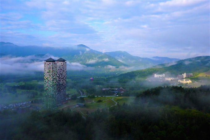 雲海が見られる?リゾナーレトマム最上階の「プラチナム」と「椿サロン」