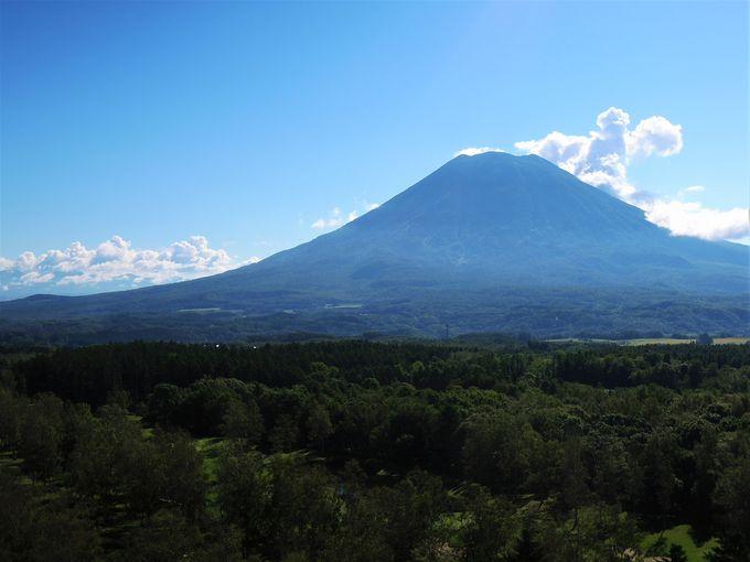 シルエットは富士。羊蹄山の雄姿。