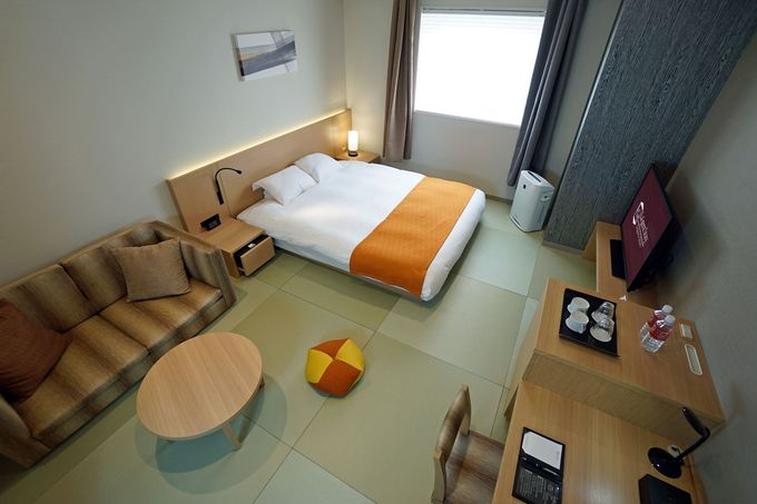 シンプルで快適な客室