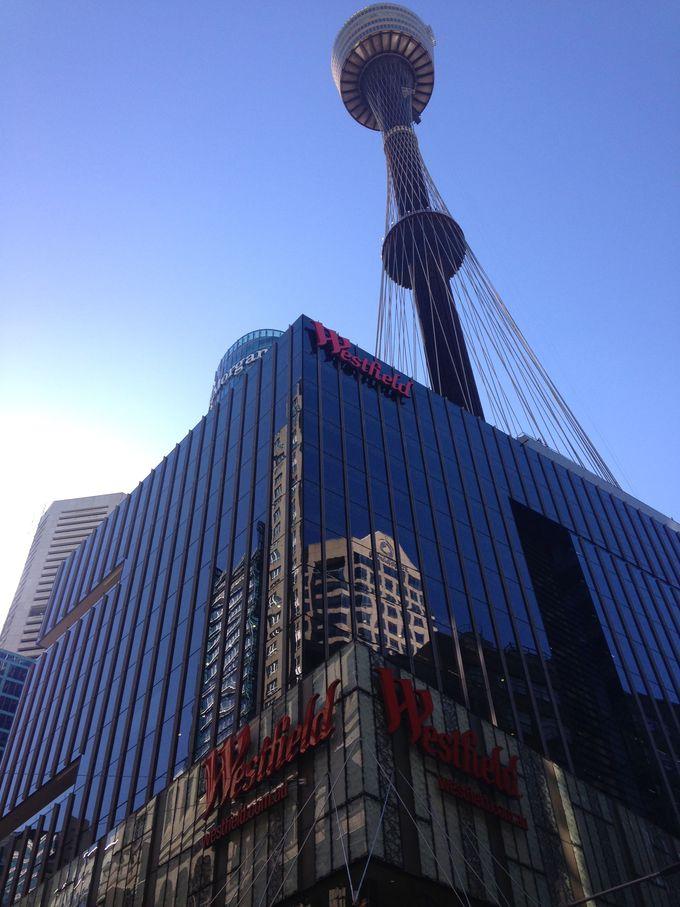 ウエストフィールド(Westfield)にあるシドニータワーから、シドニーを一望するのもオススメ