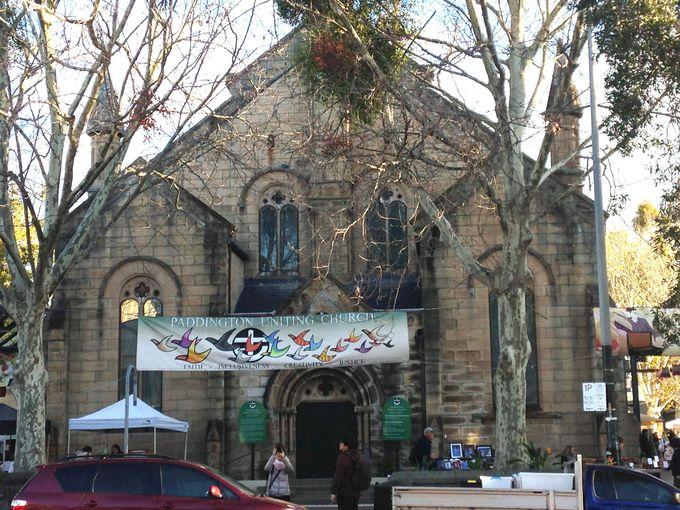 教会が目印!「パディントン・マーケット」