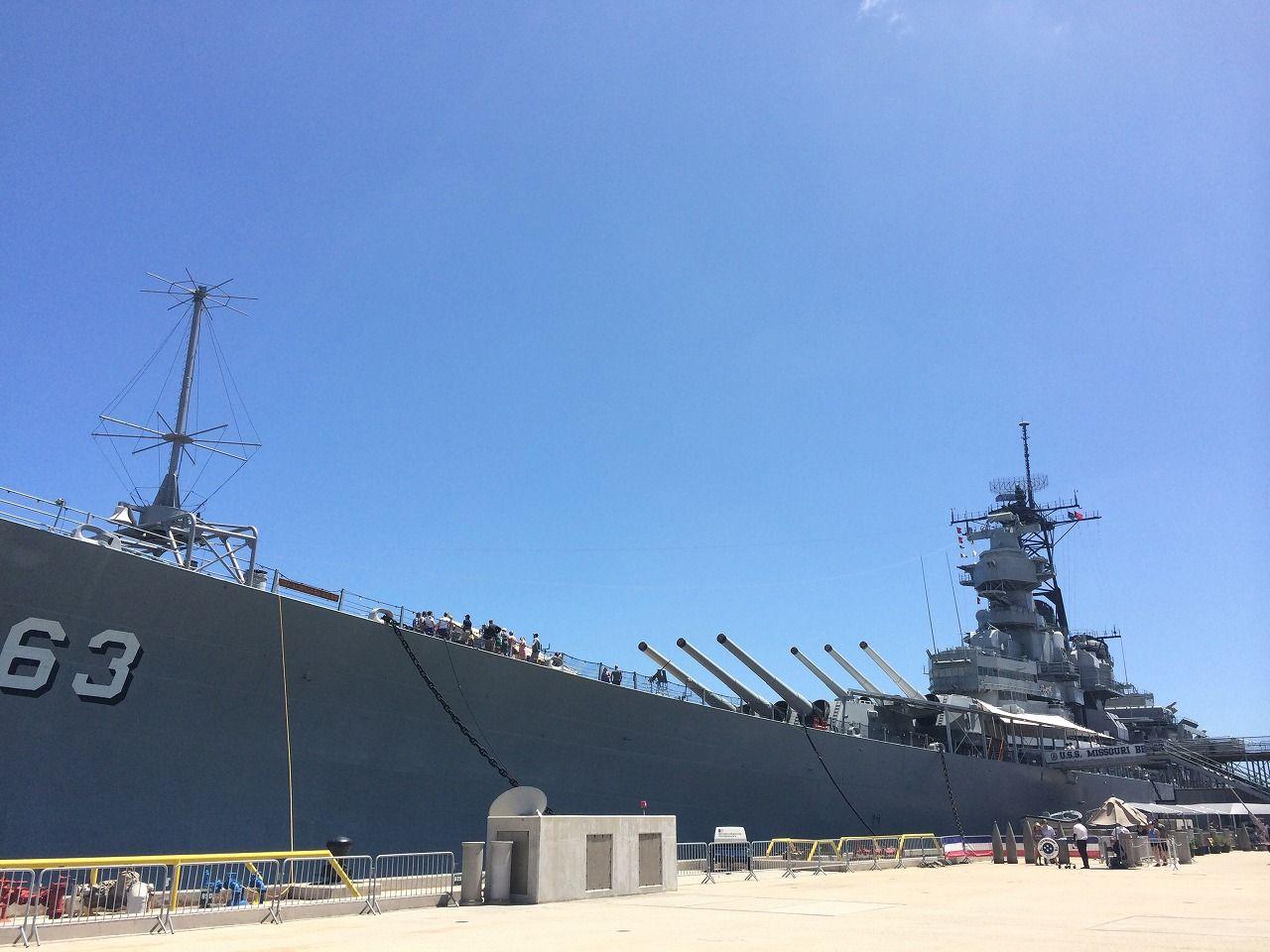 大迫力の戦艦ミズーリ見学も!オアフ島パールハーバーを満喫!