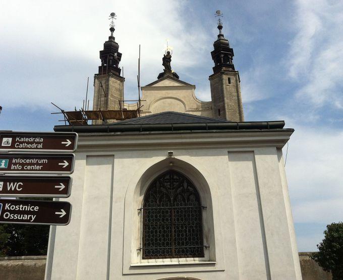 骸骨に囲まれた礼拝堂に「死を想え(エメント・モリ)」のメッセージを読む