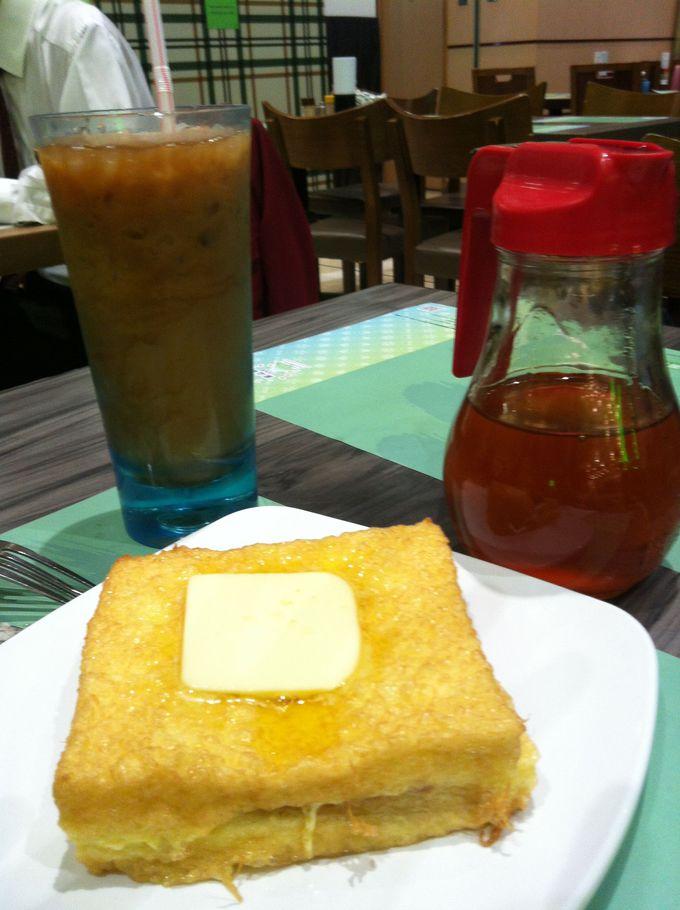 代表的な茶餐廳スイーツ「フレンチトースト」