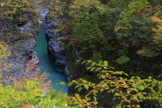 3.5kmの渡る渓谷美