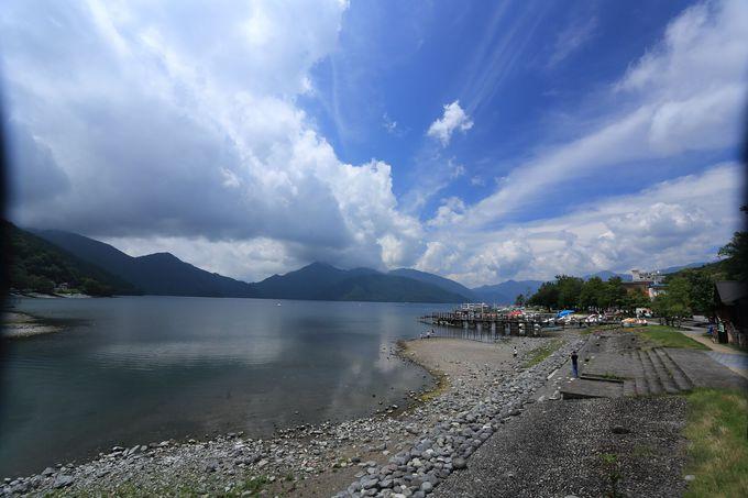 日光男体山の噴火で出現した中禅寺湖