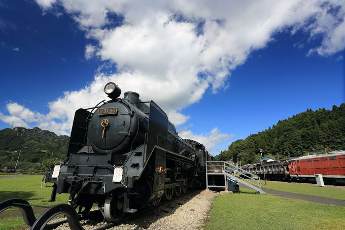 展示される貴重な各車両!鉄道の文化を直に体験できるテーマパーク