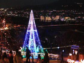 山が灯る光と夜景のコラボ!神奈川・松田きらきらフェスタ|神奈川県|トラベルjp<たびねす>