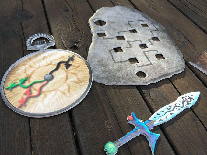 剣やアイテムを駆使して園内に隠された宝を探す旅
