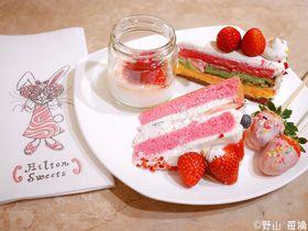 ヒルトン東京「ストロベリデザートフェア」4店舗同時開催!ストロベリーサイケデリックの世界へ