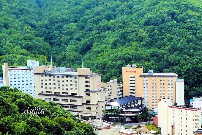 登別温泉「滝本イン」は、第一滝本館の前にあります