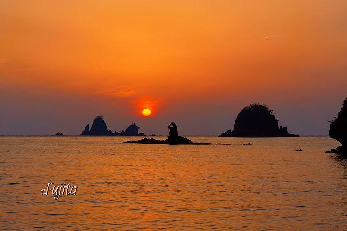 「日本の夕陽百選」大田子海岸の夕日は、3月と9月が見頃!
