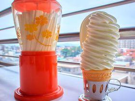 段数日本一?花巻市・マルカン百貨店の10段ソフトクリームは箸で食べる!