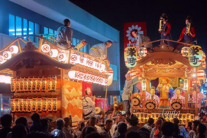 神輿と屋台と山車が豪快にすれ違う「佐倉の秋祭り」