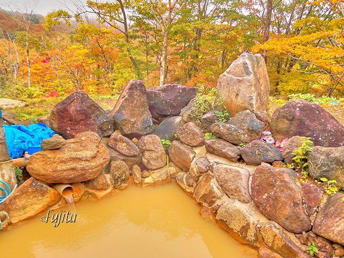 露天風呂から紅葉狩り出来る!赤湯温泉「好山荘」