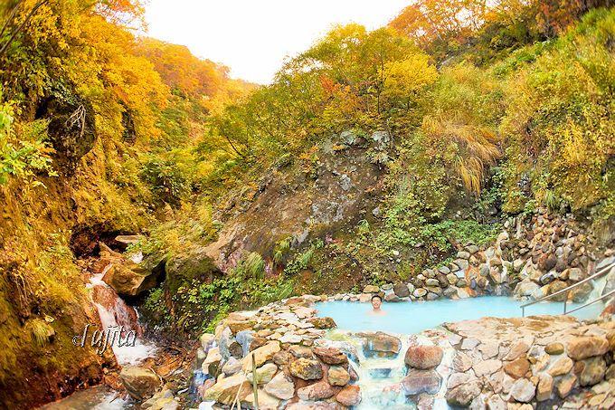 燕温泉「花文」から「河原の湯」に入りに行こう!
