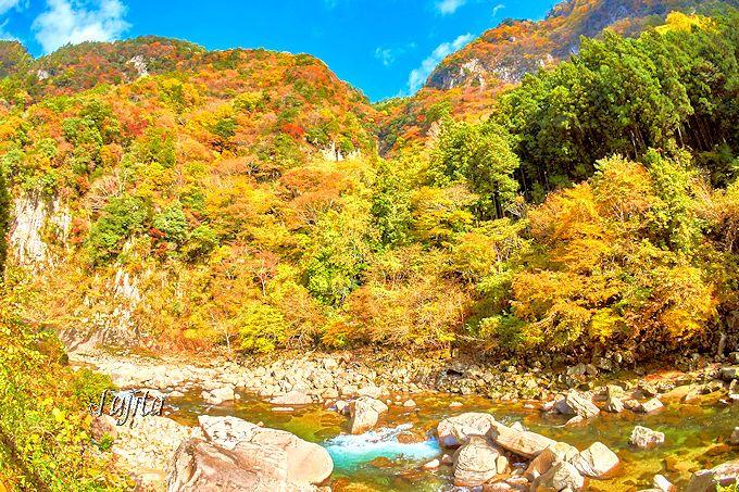 壮大な渓谷は日本有数のスケール感!三重を代表する紅葉の名所「香落渓」
